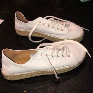 Pimaz White Espadrille Sneakers NWOT